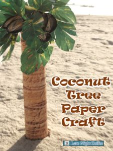 Coconut Tree Paper Craft