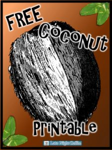 FREE Coconute Printable